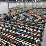 Full book cases at offsite location