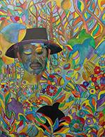 TJ Reddy Blues Man painting