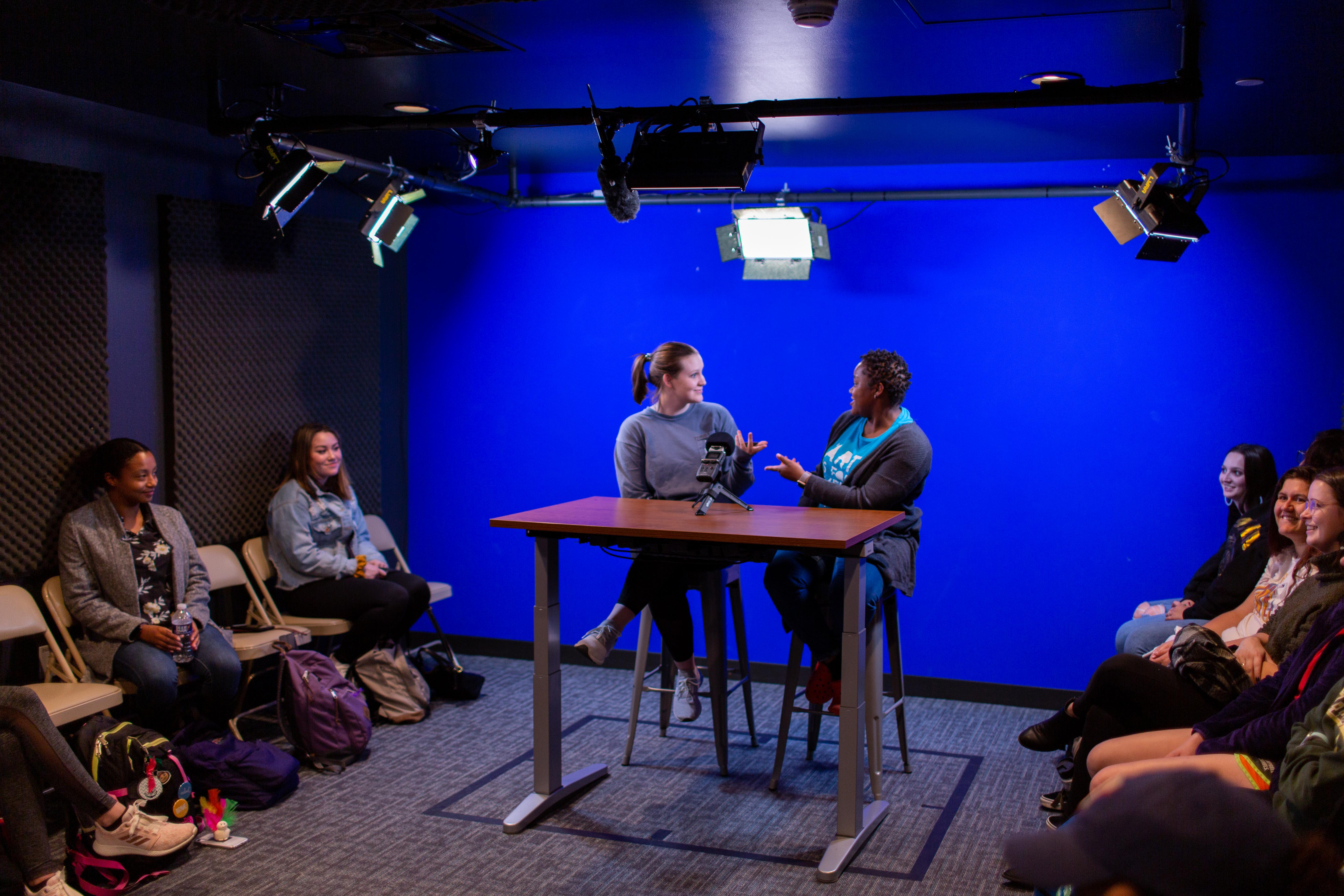 EZ Video Studio with students recording